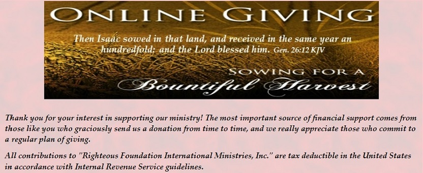 Righteous Foundation International Ministries, Inc.